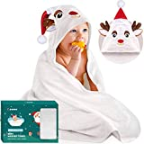 Bamboo Hooded Towels for Baby, Large Size Toddler Towels fit 0-5 Years Old, Baby Bath Towels, Super Soft Absorbent, Machine Washable, 35 x 35 in