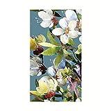 Hand Towels Disposable Decorative Paper Guest Towels for Bathroom Fingertip Towels Paper Napkins Blue Floral Magnolia Pak 32