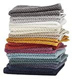 Washcloths, 12 Pack, 100% Extra Soft Ring Spun Cotton Wash Cloth, Size 13' X 13', Soft and Absorbent, Machine Washable, Vibrant Assorted Colors